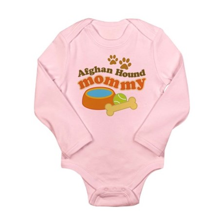 Afghan Hound Mommy Pet Gift Long Sleeve Infant Bod
