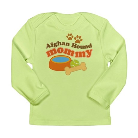 Afghan Hound Mommy Pet Gift Long Sleeve Infant T-S