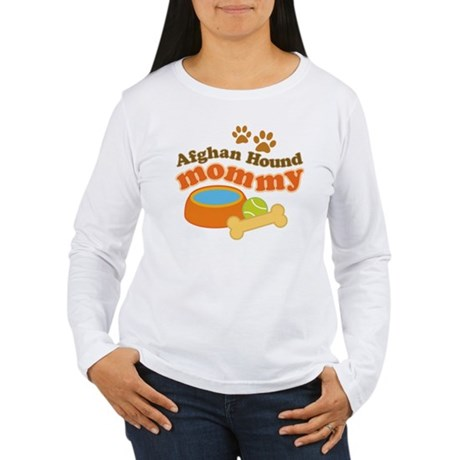 Afghan Hound Mommy Pet Gift Women's Long Sleeve T-