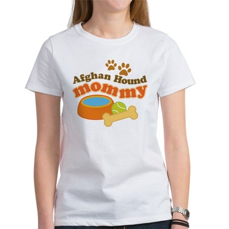 Afghan Hound Mommy Pet Gift Women's T-Shirt
