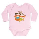Beagle Mommy Pet Gift Long Sleeve Infant Bodysuit