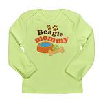 Beagle Mommy Pet Gift Long Sleeve Infant T-Shirt