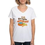Beagle Mommy Pet Gift Women's V-Neck T-Shirt