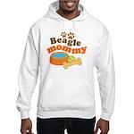 Beagle Mommy Pet Gift Hooded Sweatshirt