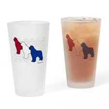 Patriotic Newfies Pint Glass