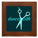 Dances with Scissors Framed Tile