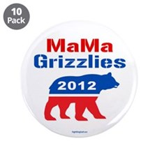 """MaMa Grizzlies 2012 3.5"""" Button (10 pack)"""