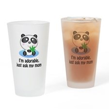 Panda Pint Glass