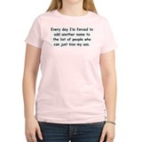 Kiss My Ass Women's Pink T-Shirt
