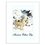 Eskimo Dog Art Small Poster