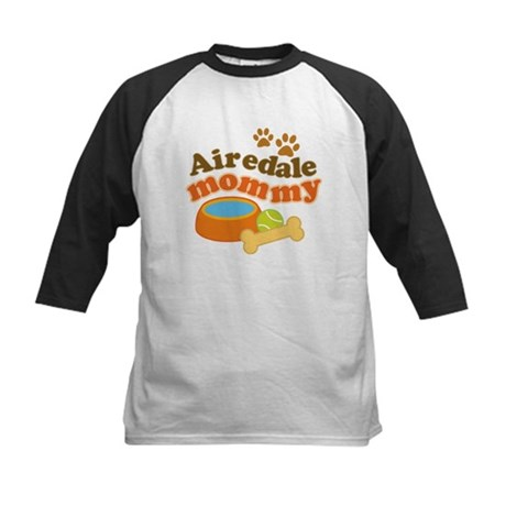 Airedale Mommy Pet Gift Kids Baseball Jersey