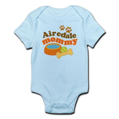 Airedale Mommy Pet Gift Infant Bodysuit