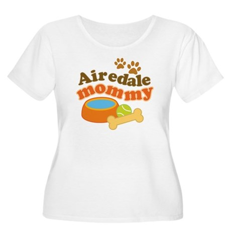 Airedale Mommy Pet Gift Women's Plus Size Scoop Ne