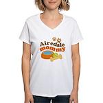 Airedale Mommy Pet Gift Women's V-Neck T-Shirt