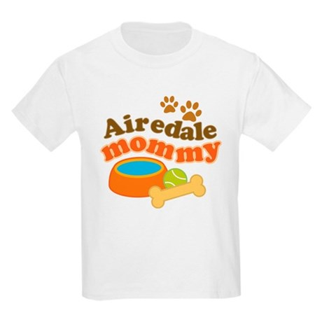 Airedale Mommy Pet Gift Kids Light T-Shirt