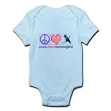 PEACE HEART HUMMINGBIRD Infant Bodysuit