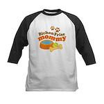 Bichon Frise Mommy Pet Gift Kids Baseball Jersey