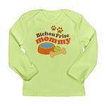 Bichon Frise Mommy Pet Gift Long Sleeve Infant T-S