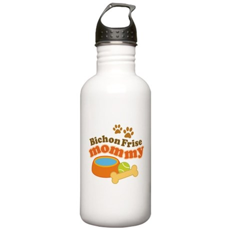 Bichon Frise Mommy Pet Gift Stainless Water Bottle