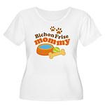 Bichon Frise Mommy Pet Gift Women's Plus Size Scoo