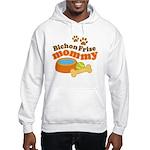 Bichon Frise Mommy Pet Gift Hooded Sweatshirt