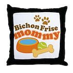Bichon Frise Mommy Pet Gift Throw Pillow