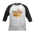 Basset Hound Mommy Pet Gift Kids Baseball Jersey