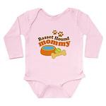 Basset Hound Mommy Pet Gift Long Sleeve Infant Bod
