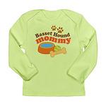 Basset Hound Mommy Pet Gift Long Sleeve Infant T-S