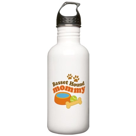 Basset Hound Mommy Pet Gift Stainless Water Bottle