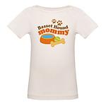 Basset Hound Mommy Pet Gift Organic Baby T-Shirt