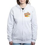 Basset Hound Mommy Pet Gift Women's Zip Hoodie