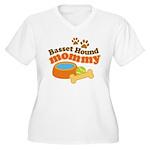 Basset Hound Mommy Pet Gift Women's Plus Size V-Ne
