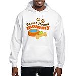 Basset Hound Mommy Pet Gift Hooded Sweatshirt