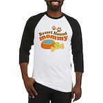 Basset Hound Mommy Pet Gift Baseball Jersey
