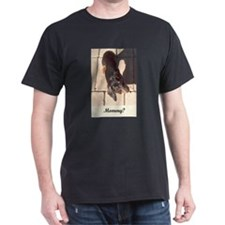 Mothers Day Dachshund Dogs Black T-Shirt