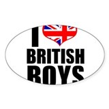 i heart british boys Decal