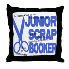 Junior Scrapbooker Throw Pillow