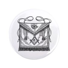 "Masonic Apron 3.5"" Button"