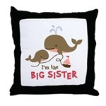 Big Sister - Mod Whale Throw Pillow