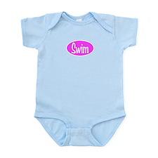 Swim Pink Oval Infant Bodysuit