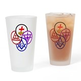 York Rite Pinwheel Drinking Glass