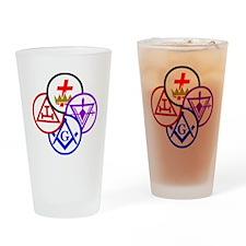 York Rite Pinwheel Drinking Glass