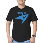 Boldly Go Men's Fitted T-Shirt (dark)