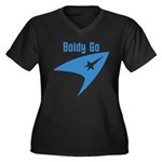 Boldly Go Women's Plus Size V-Neck Dark T-Shirt