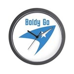 Boldly Go Wall Clock