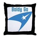 Boldly Go Throw Pillow