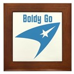 Boldly Go Framed Tile