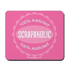 Scrapaholic - Pink Mousepad
