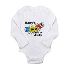 Baby's First 4th of July Long Sleeve Infant Bodysu